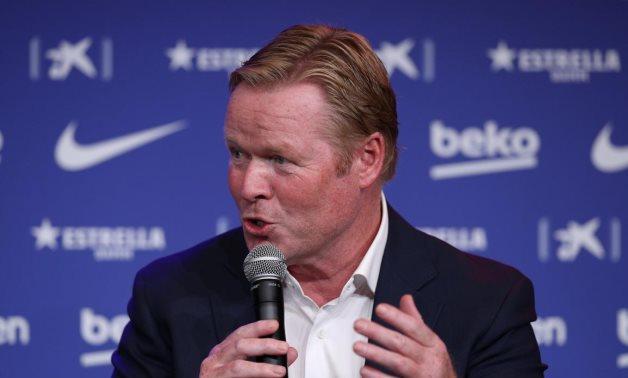 Barcelona coach Ronald Koeman, Reuters