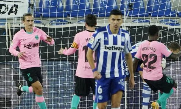 Griezmann equalized the score for Barcelona, Reuters