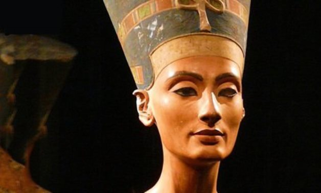 FILE - Nefertiti's Head Statue