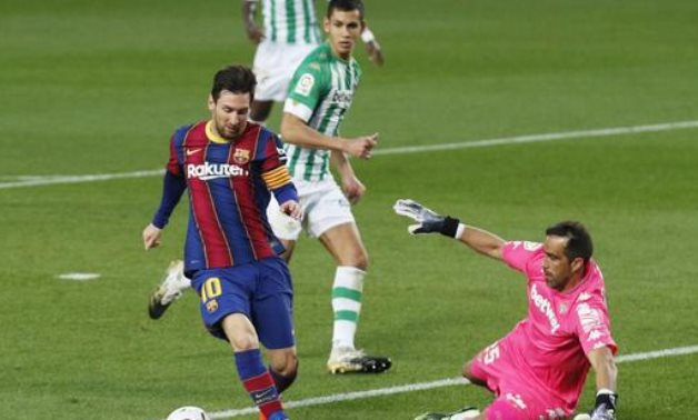 Lionel Messi during the match, Reuters