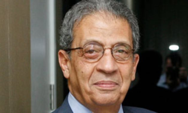 FILE – Former Secretary General of the Arab League and former Egypt's Minister of Foreign Affairs Amr Mousa