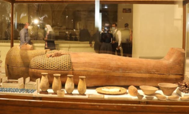 One of the sarcophagi housed in the Egyptian Museum in Tahrir - ET