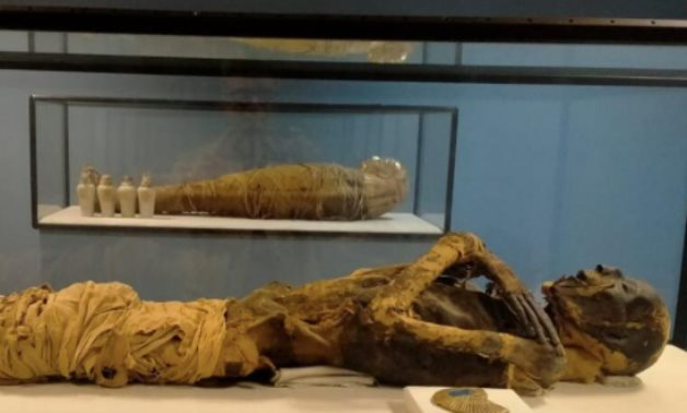 One of the mummies housed in the Cairo International Airport Museum - Photo via Egypt's Min. of Tourism & Antiquities