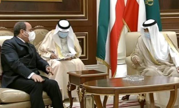 President Abdel Fattah El Sisi visits Kuwait and meets with Kuwaiti Emir Sheikh Nawaf Al Ahmad - Presidency/screenshot