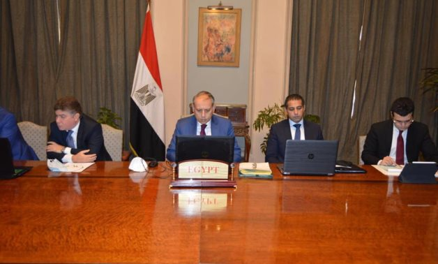 A virtual meeting held between officials from the four countries' foreign ministries to discuss Syria – Egyptian Foreign Ministry