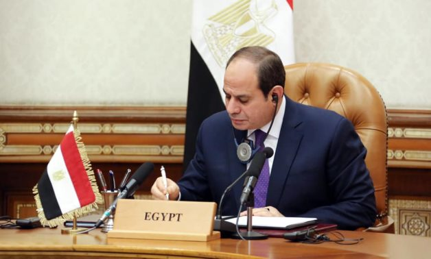 President Sisi participates via video in the second meeting to support Lebanon, December 2 – Egyptian Presidency