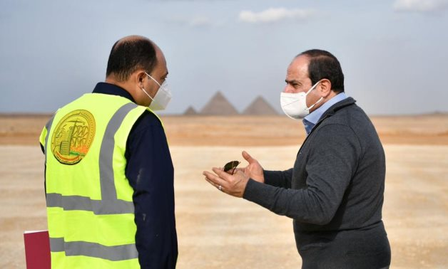 President Abdel Fattah El-Sisi inspected a number of road and bridge projects in Cairo and Giza governorates on Friday- press photo