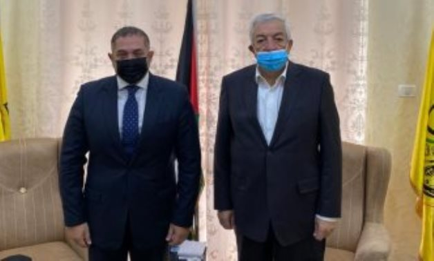 Egyptian Ambassador to Palestine Tareq Tayel and Vice President of Fatah Movement Mahmoud al-Aloul.