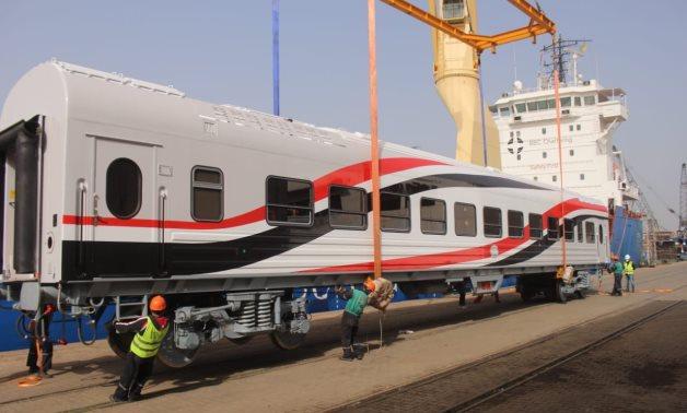 52 new train vehicles arrive at Alexandria Port - FILE