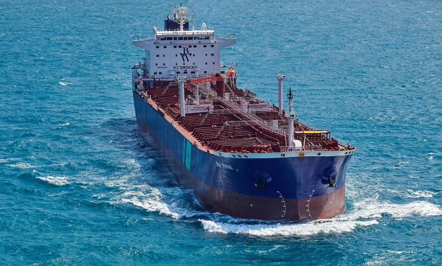 Oil tanker BW Rhine is seen in the Straits of Singapore in this handout photo taken in 2018. Hafnia/Handout via REUTERS