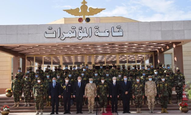 Egyptian Armed Forces organizing training course for elements joining UN peacekeeping forces in Mali on December 15, 2020. Press Photo