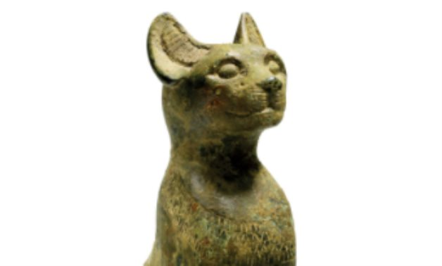 One of the Egyptian antiquities held for sale in Christie's Auction House - ET