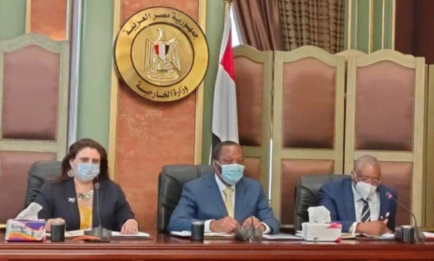 Congolese delegation visiting Egypt on December 16, 2020. Press Photo