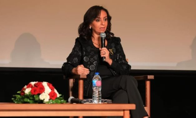 Head of Egypt's National Council for Women (NCW) Maya Morsy participates in an anti-harassment forum - Press photo