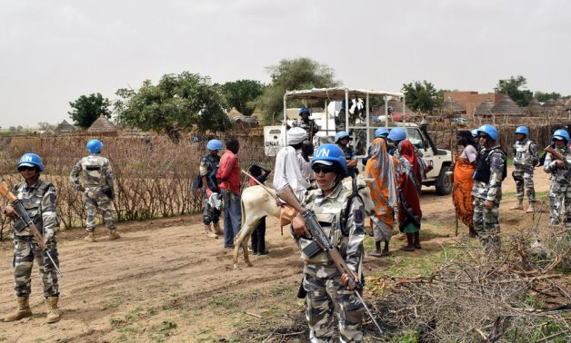 FILE - UN peacekeeping forces in Sudan's Darfur – United Nations website