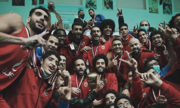 Al Ahly players celebrate the victory