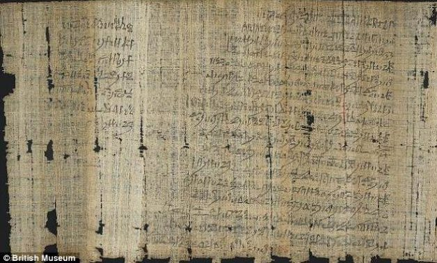 The 3,000 year old ancient Egyptian papyrus describing a litany of morally corrupt actions by the chief master craftsmen Paneb, who oversaw construction on the Valley of the Kings - British Museum