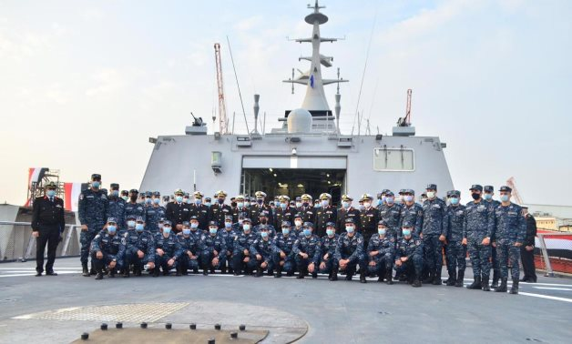 Egypt's first 100-percent locally-built Gowind 2500 stealth corvette in delivery ceremony on January 11, 2021. Press Photo