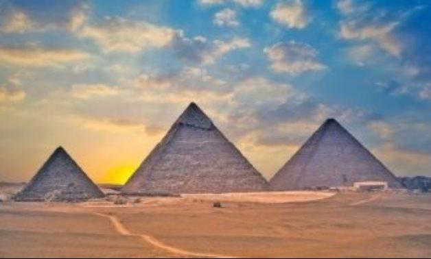 FILE - Great Pyramids of Giza