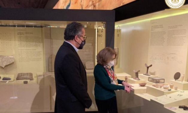 Enany during his visit to the National Museum of Archaeology in Spain - Min. of Tourism & Antiquities