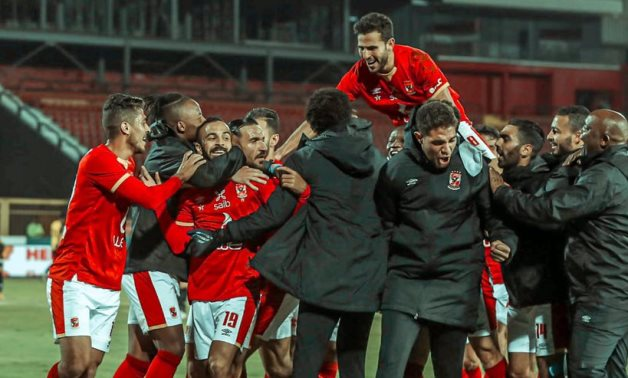 File- Al Ahly players celebrate Afsha's goal, courtesy of Al Ahly Twitter Account