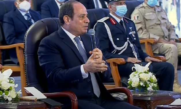 President Sisi at the inauguration of Farouz Fish Farming project in Port Said