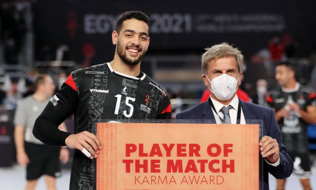 File- Ahmed Hesham claimed the Man of the Match award