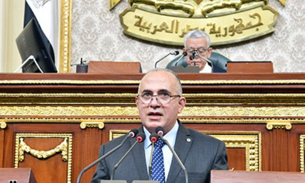 Water Resources Minister Mohamed Abdel Aaty in the parliament on Jan. 22, 2021 - Youm7