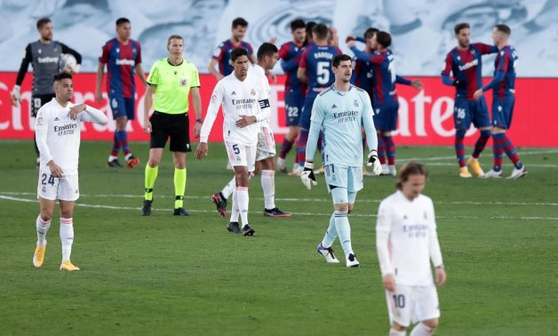 Real Madrid 1-2 Levante: Roger rocks 10-man champions