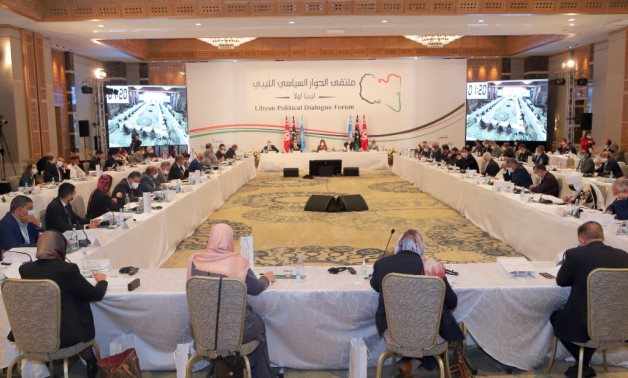 Shots from the meetings on the first day of the UNSMIL-facilitated Libyan Political Dialogue Forum, which commenced on 9 November 2020 in Tunis.