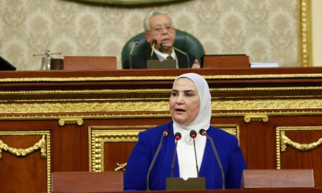 Social Solidarity Minister Nevine Al-Qabbaj deliveres a speech before the Egyptian House of Representatives – Ministry of Social Solidarity