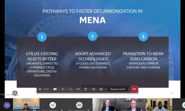 Screenshot of the virtual roundtable held by GE Gas Power