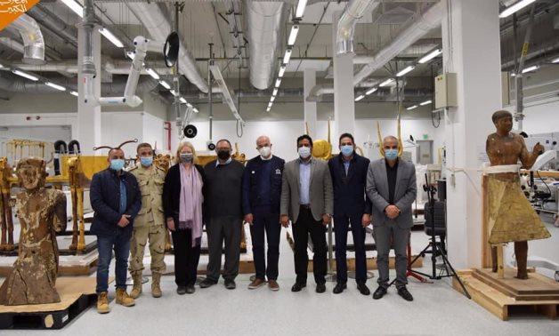 File: Dr. Mechtild Rössler, Director of the UNESCO World Heritage Center and the Heritage Division visited the Grand Egyptian Museum with her accompanying delegation.