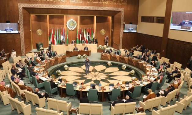 Foreign Ministers of Arab League Countries during an emergency meeting of the Arab League Council, requested by Egypt and Jordan, in Cairo- press photo