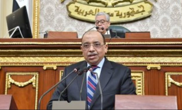 Minister of Local Development Mahmoud Shaaray delivering a speech before the House of Representatives on February 8, 2021. Egypt Today