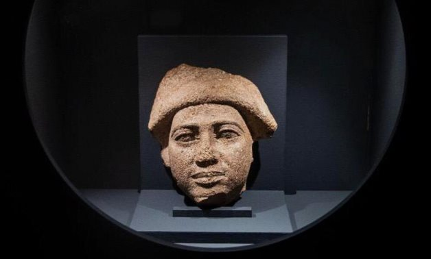 """Head statue of King """"Ra-Nefer-Ef"""" exhibited in Prague - Min. of Tourism & Antiquities"""