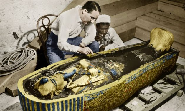 FILE - Howard Carter discovered the tomb of Tutankhamun in 1923