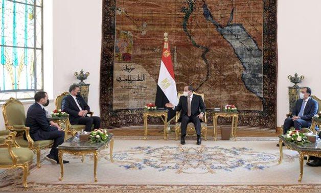 Egyptian President Abdel Fattah El Sisi has received new Libyan Prime Minister Abdel Hamid Dbeibeh on Thursday in Cairo- press photo