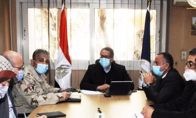 File: Egypt's Minister of Tourism&Antiquites holds a meeting to follow up on GEM.