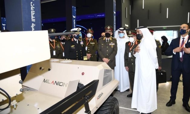 Defense and Military Production Mohamed Zaki in IDEX 2021 – Press Photo