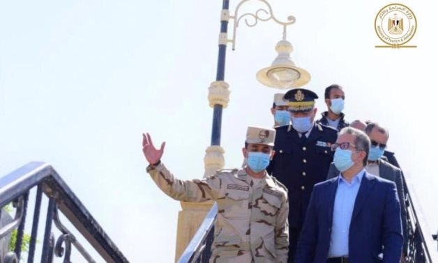 File: Egypt's Minister of Tourism&Antiquities visits  the ministry's tourist marina in Luxor.