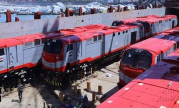 FILE – General Electric train engines delivered to Egypt