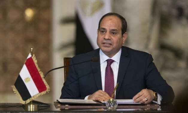 Egypt's President Abdel Fattah al-Sisi speaks during a news conference after the talks with Russia's President Vladimir Putin in Cairo, Egypt December 11, 2017 - Reuters