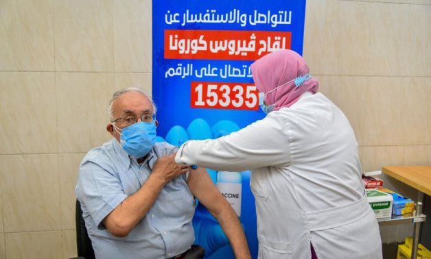 Vaccinating elderly people in Egypt - FILE