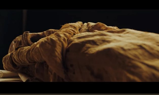 File: one of the mummies that will be transferred during the Pharaohs Golden Parade.