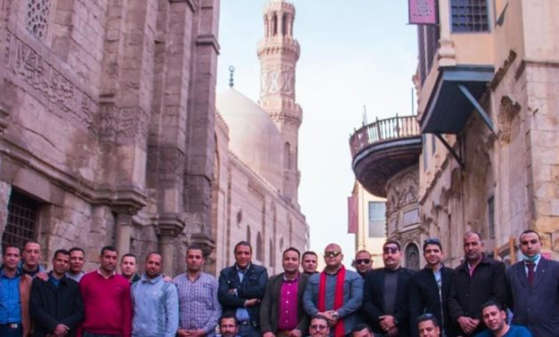 File: Egypt's Ministry of Tourism& Antiquities organizes training course for a number of workers at Al Moez Street.