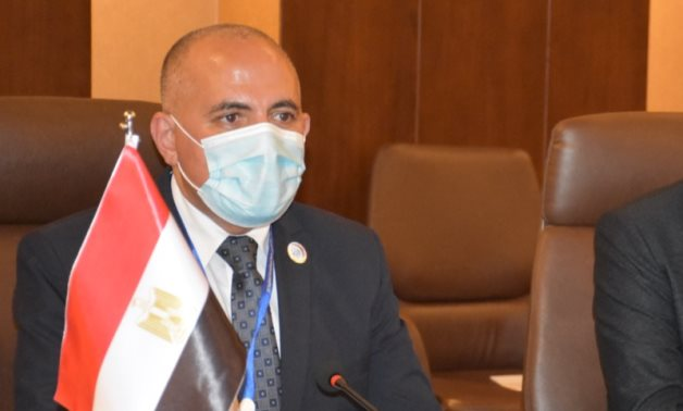 Egyptian Irrigation and Water Resources Minister Mohamed Abdel Atti  during the 1st round of Baghdad International Water Conference- press photo