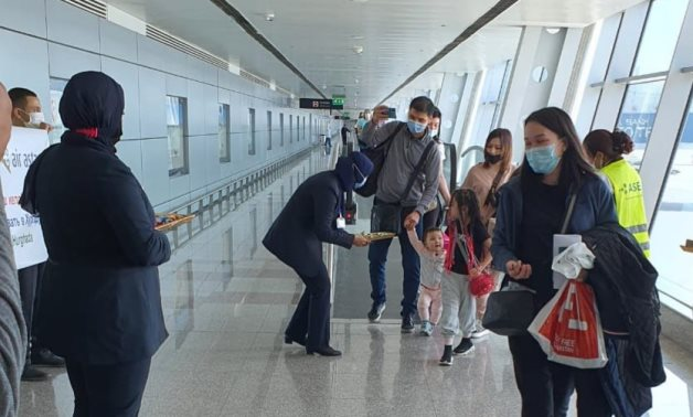 Tourists from Kazakhastan arriving in Hurghada Airport - FILE