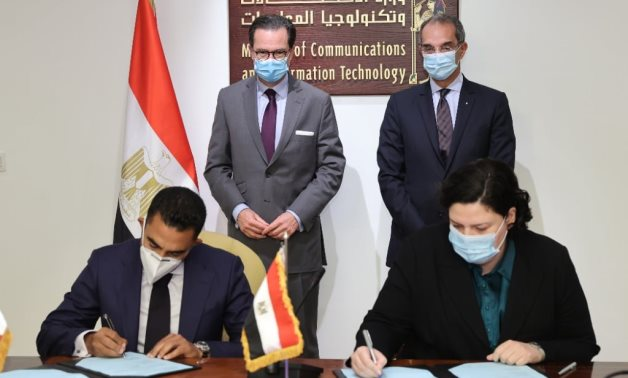 Minister of Communications and Information Technology Amr Talaat witnessed on Tuesday the signing of an MoU between the ministry and France's Thales - Courtesy of the ministry