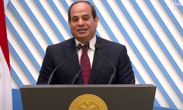 President Abdel Fattah el-Sisi on Mother's Day on March 21, 2021 - Youtube still